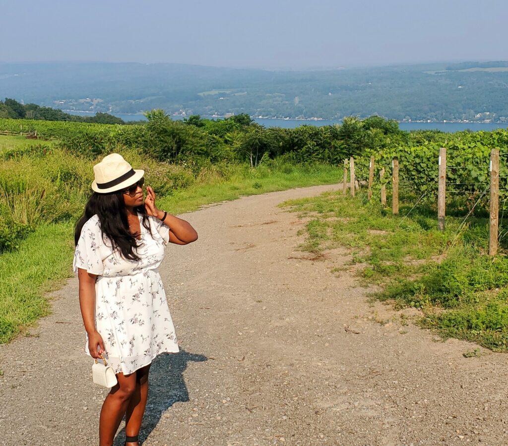 Erin by Finger Lakes vineyard